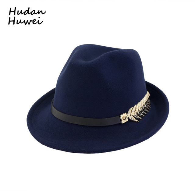 European US Roll Narrow Brim Wool Felt Fedora Hat for Men Women Trend Unisex  Jazz Trilby a7a4e56fdb15
