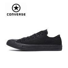37588baf8 Новое поступление Аутентичные Converse Классический дышащий холст низкий  Топ Скейтбординг обувь унисекс анти-скользкие кроссовки
