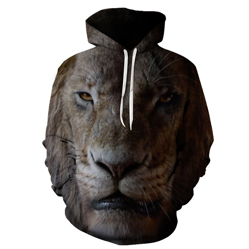 Sale 3d Printed for Lion Street Hoodie for Men And Women, New Sport for Fall 2019  Casual Coat Big Size of S-6xl direct selling(China)