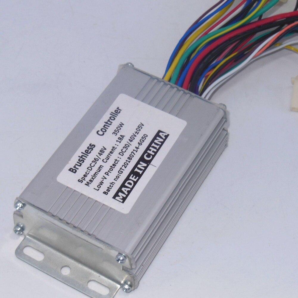 Envío libre GREENTIME 36 V/48 V 350 W/250 W controlador de motor BLDC sin escobillas de controlador de velocidad
