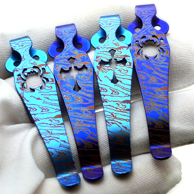 Spider C81 Back Clip Spider C10 Titanium Alloy Pocket Knife Clip Pocket Clip Knife Beads EDC Tools