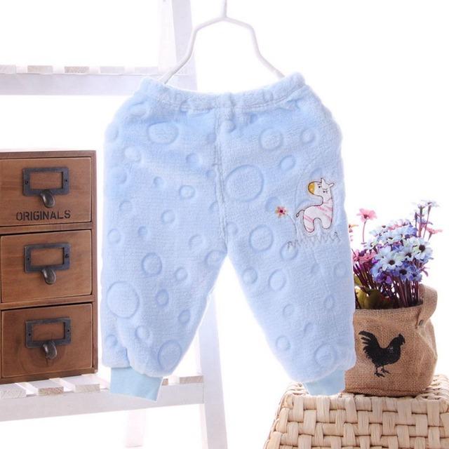 Warm Baby Girl Cartoon Pants