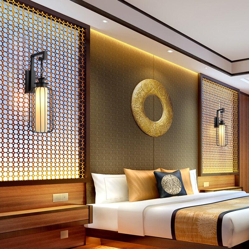 Китайский стиль стены lamsp гостиная спальня ночники первого исследования коридорах точка отель настенный светильник za81457