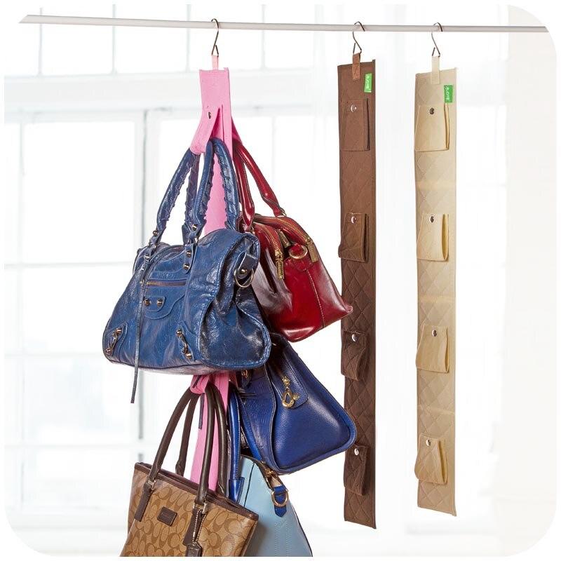 Aliexpress.com : Buy Hanging Handbag Closet Organizer Purse Storage 6 Hook  Door Collection Hanger Hat Bag Strap Belt Clothes Rack Organizer Buckle  From ...