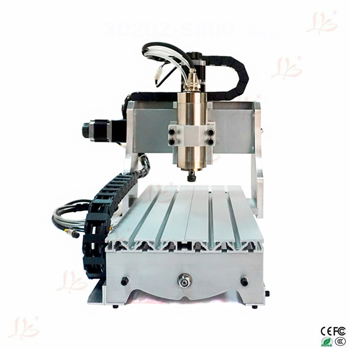 Desktop cnc LY3020Z-S800 4 axis cnc router with 800W water cooling spindle for metal wood cutting cnc dc spindle motor 500w 24v 0 629nm air cooling er11 brushless for diy pcb drilling new 1 year warranty free technical support