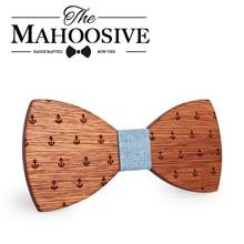 Mahoosion классический капитан деревянные бабочки-Галстуки деревянные бабочки бабочка галстук Gravatas