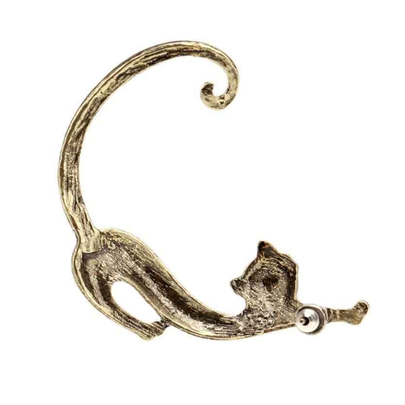 תכשיטי אופנה עגילי אופנה חדשה חם גותי פאנק פיתוי נשיכת חתול אוזן קאף גלישת עגיל חמוד טרנדי סגנון ייחודי שנועד