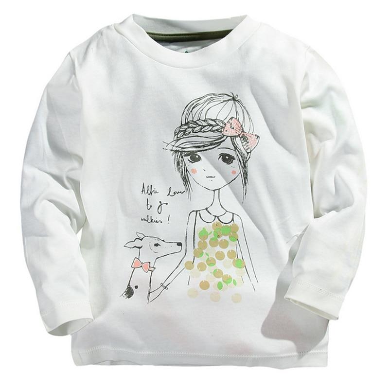 Children Infant Kids Girls T-shirt Tops Blouse Cartoon Embroidery Shirts Tees