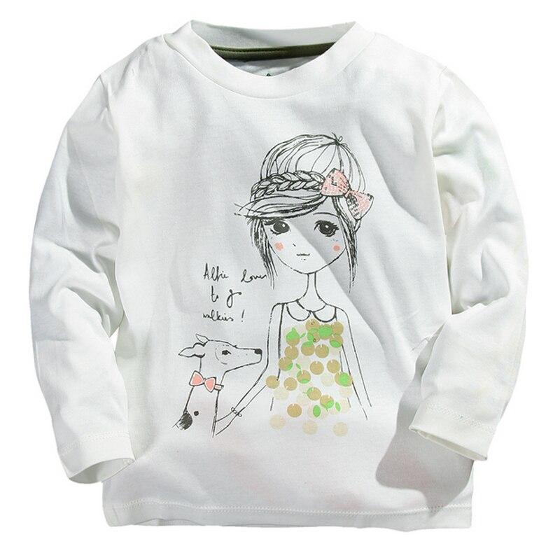 1-5y Jungen Mädchen T-shirts Kinder T-shirt Baby T-shirt Bluse Kinder Pullover Frühling Herbst Langarmshirts Baumwolle Cartoon Kleidung Gut Verkaufen Auf Der Ganzen Welt