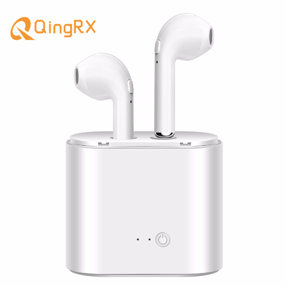 QINGRX  i7 TWS Twins Wireless Earbuds Bluetooth Earphone V4.2 Stereo Headset For Iphone 8 plus 7s 7 SE Galaxy S8 Plus LG