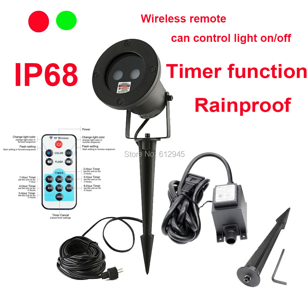 Setting Outdoor Light Timer: RF wireless remote park outdoor frie fly laser light timer function party  lawn garden new light,Lighting