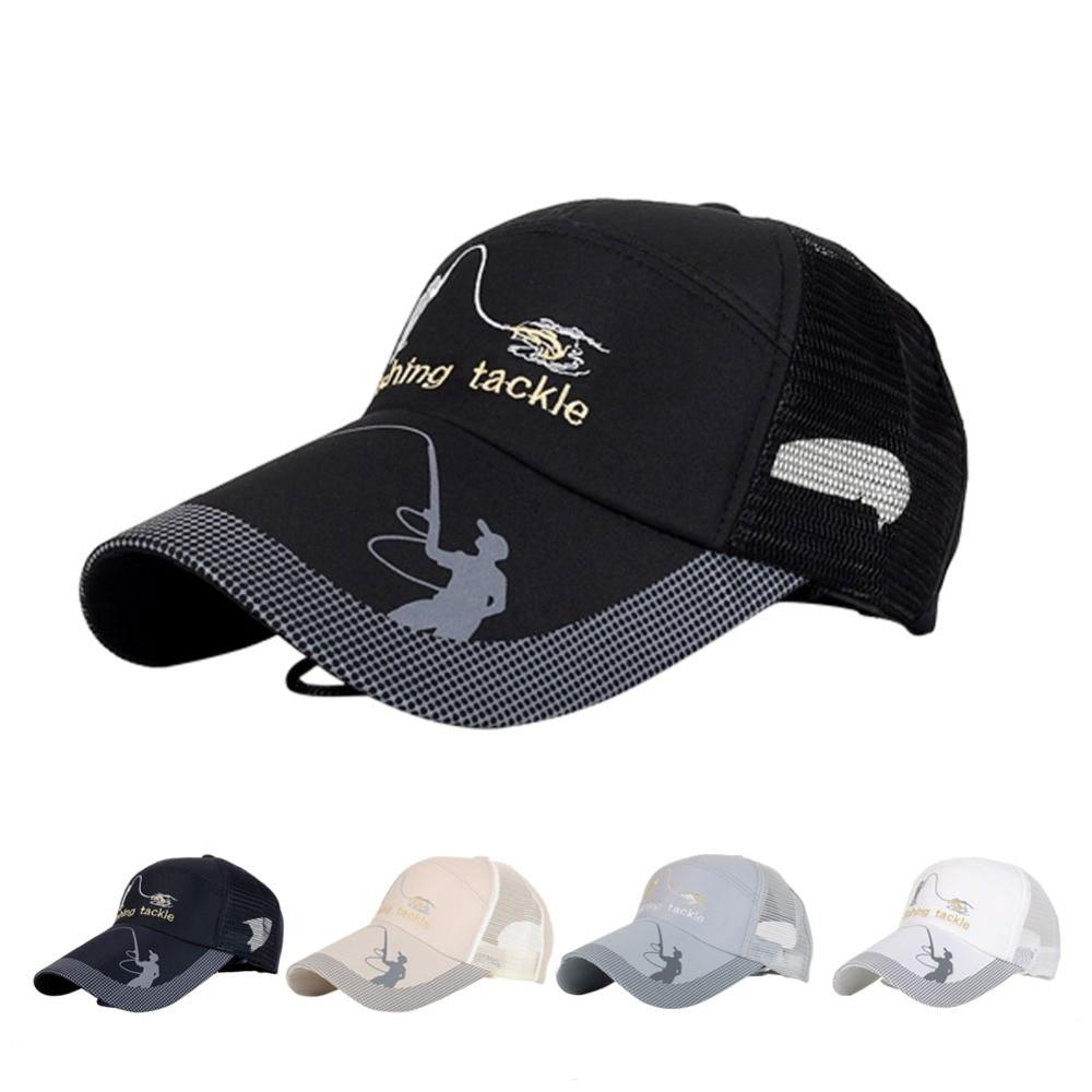 Unisex Men Women Adjustable Fishing Cap Snapback Golf Sports Hat Sun Visor