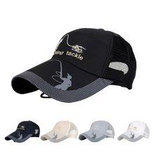 Unisex hombres mujeres pesca ajustable Snapback Golf deportes visera del  sombrero del sol(China) 1252ec57acc