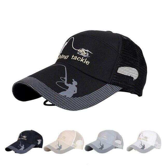 ebb68026fca Unisex Men Women Adjustable Fishing Cap Snapback Golf Sports Hat Sun Visor