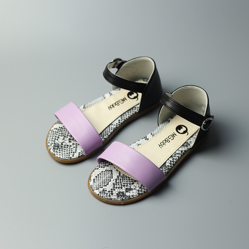 Girls Fish Mouth Summer Sandals Candy Color Flats Beach Kids Causal Sandals fashion girl summer shoes