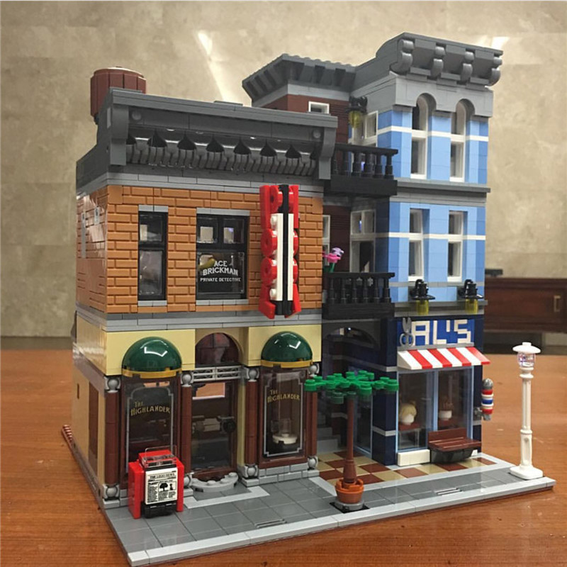 цена на Lepin 15011 2262PCS Detective's Office Sets USB LED Light Kits Building Blocks Bricks Compatible 10246 Educational Children Toys