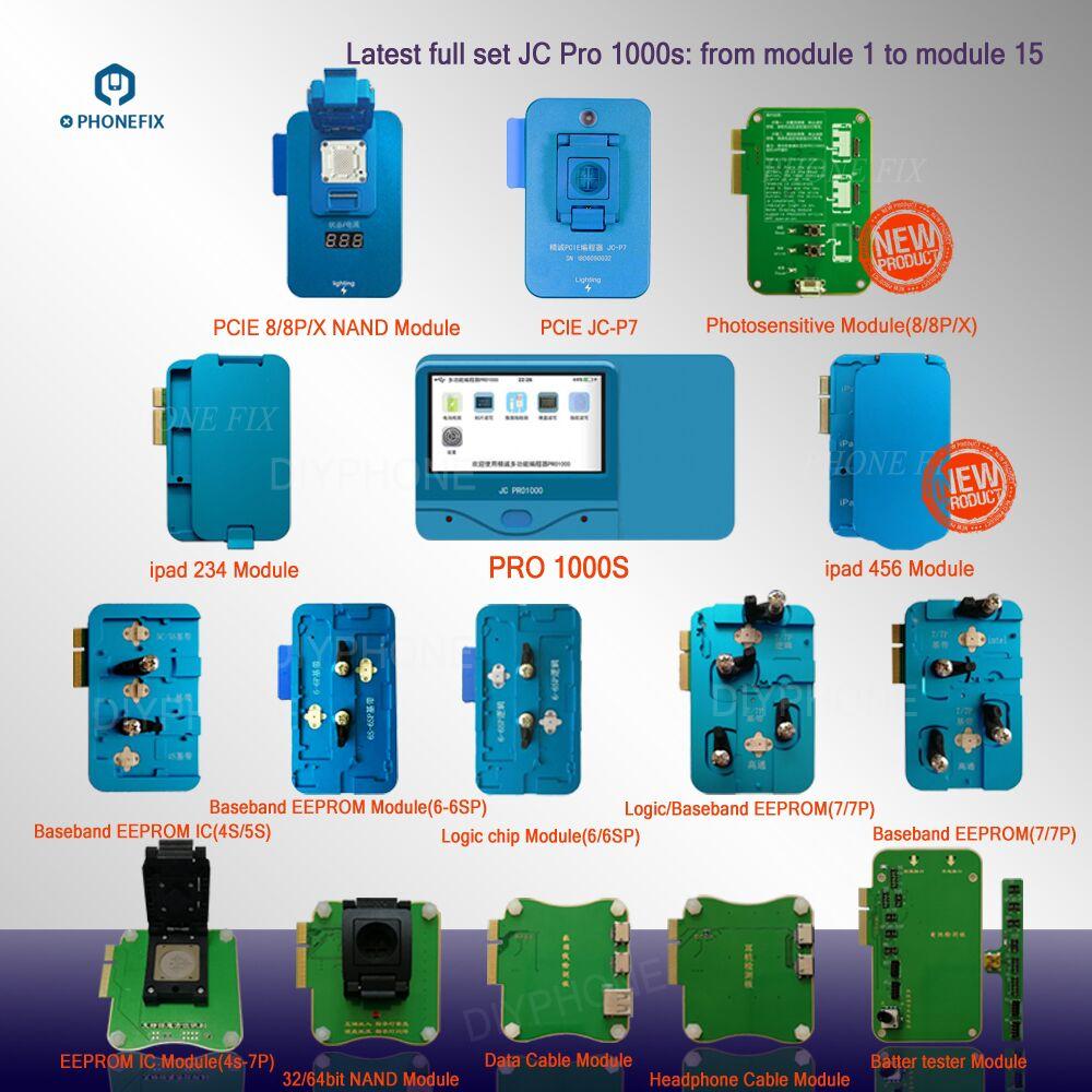JC Pro1000S 多機能 NAND プログラマ PCIE Nand リード Iphone 8 8P × 7 7P 6 6S 6SP 5 4 のすべての Ipad