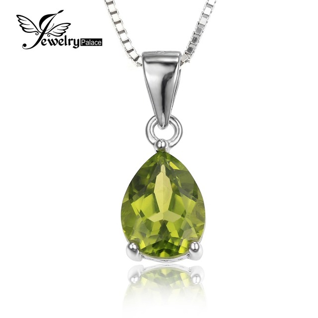Wholesale Water Drop 1.9ct Natural Peridot Pendants For Women Real Pure 925 Sterling Silver Fashion Brand Jewelry New Arrival