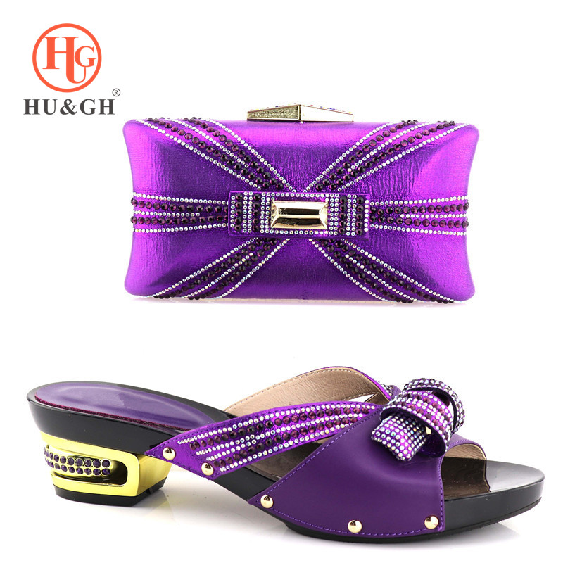 New African Shoes and Bag Sets Purple Color Italian Shoes with Matching Bags High Quality Women Shoes and Bag To Match for Party hot artist shoes and bag set african sets italian shoes with matching bags high quality women shoes and bag to match set mm1055