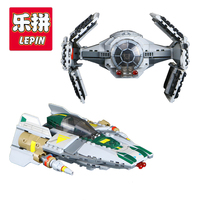 LEPIN 05030 722Pcs Star Vader Tie Advanced VS A Starfighter Wing Building Blocks Compatible With Lego