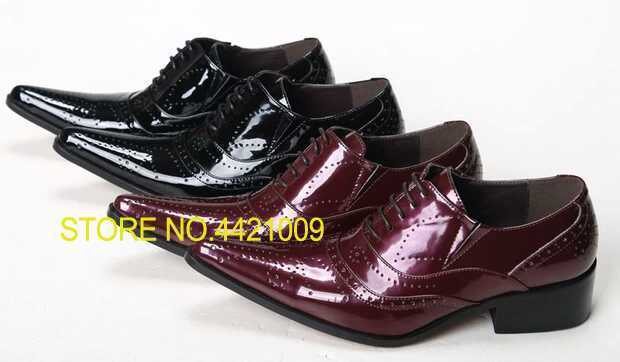 Shoes Orderly Black Red Wedding Dress Shoes Rock Punk Fashion Genuine Leather Business Style Nightclub Shoes Social Sapatos Plus Size 46 Convenience Goods Men's Shoes