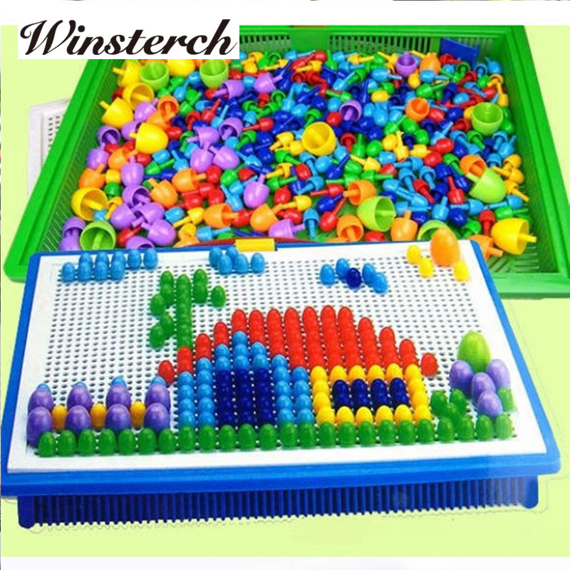 296pcs/set Mushroom Ding Children Kids Baby Educational Building Animal Puzzle Toys Puzzles KidsToys Wholesale RT015 ...