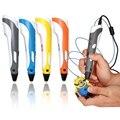 Nueva Impresión 3D Pen Pantalla LCD Velocidad Ajustable Niños de Dibujo Educativo Kit de Desarrollo de Diseño Creativo Regalo de Cumpleaños
