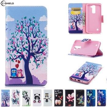 8cdc264f1c3 Caso para LG K7 K 7 caso cubierta de cuero del teléfono móvil para LG  Tribute 5 LGX210 X210 X210ds X 210 DS cartera bolsa silicona suave TPU