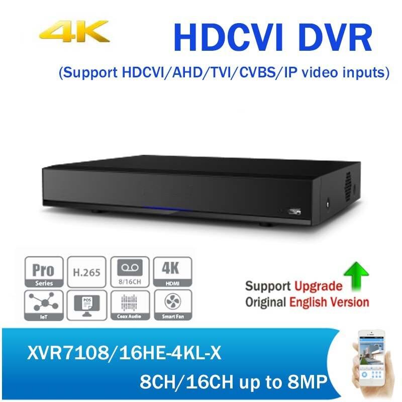DH XVR7108HE-4KL-X XVR7116HE-4KL-X 8CH 16CH Penta-brid 4K XVR Mini 1U Digital Video Recorder H.265 CCTV HDCVI DVR