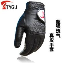 TTYGJ golf gloves slip-resistant Men's genuine leather gloves Free shipping Hot brand in China