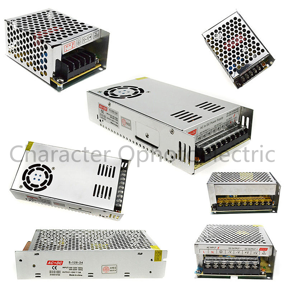 AC 110V-220V TO DC 5V 12V <font><b>24V</b></font> 1A 2A 3A 5A 10A 15A 20A 30A 50A Switch <font><b>Power</b></font> <font><b>Supply</b></font> Driver Adapter LED Strip Light image