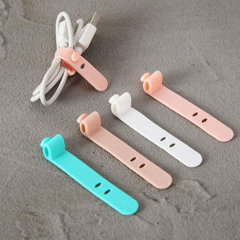 4pcs Travel Accessories Creative Silica Gel Cable Winder Earphone Protector Usb Unisex Phone Holder Accessory Packe Organizers