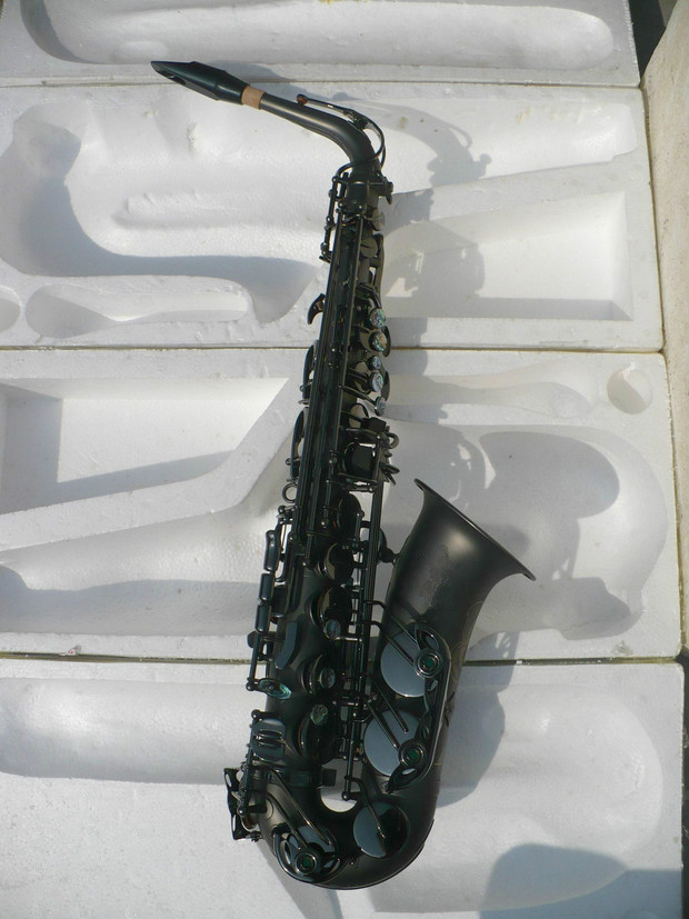 Brass Musical Instruments MARGEWATE Alto Saxophone Eb Matt Black Plated With Case Mouthpiece Accessories Free Shipping suerte eb alto trombone brass body lacquer nickel plated silver plated with wood case musical instruments professional