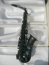 Brass Musical Instruments MARGEWATE Alto Saxophone Eb Matt Black Plated With Case Mouthpiece Accessories Free Shipping