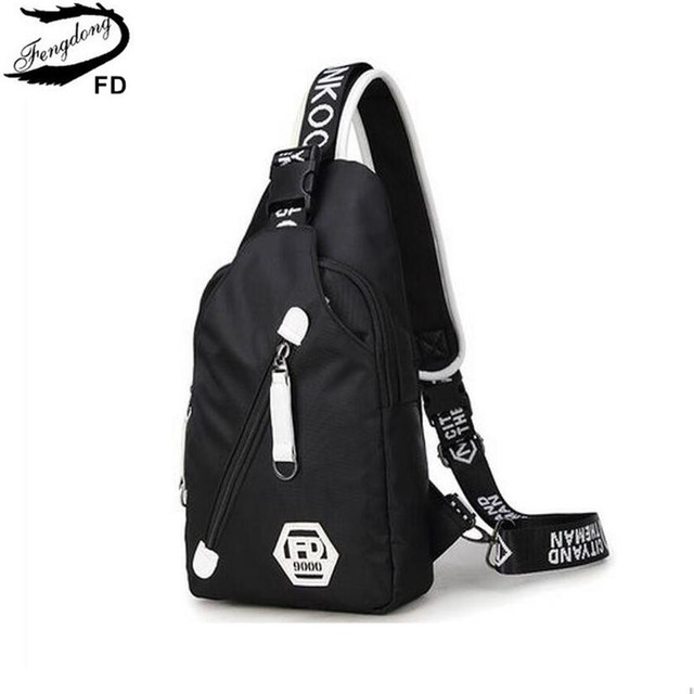 0a256b9335 FengDong crossbody bags for men women travel bags casual Chest Bag Pack  Waterproof Single Shoulder Strap sling messenger bag