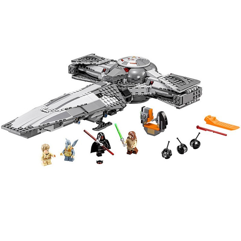ФОТО 698pcs 2017 new  05008 STAR WARS The Force Awakens Sith Infiltrator Building Block Darth Margus starwars model boy toys