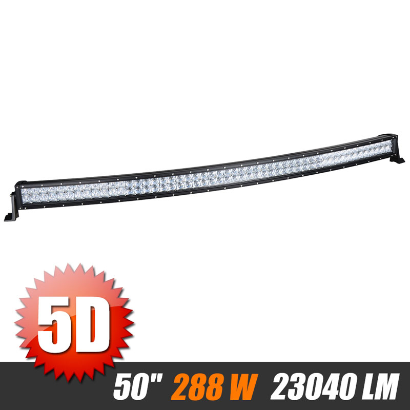 50 inch 480W Curved 5D Offroad LED Light Bar With Cree Chips Combo Beam Work Light For JEEP Wrangler Automobile UAZ 4WD SUV 4x4