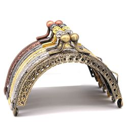 8.5cm Round Metal Frame for Purse Handle Clutch Bag Handbag Accessories Making Purse Clasp Lock Metal Clasp Bags Hardware
