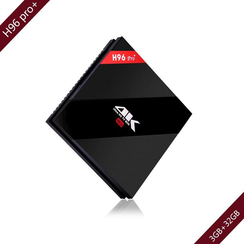 Bracket Gift Android 7.1 TV Box 3GB 32GB Amlogic S912 H96 pro plu Streaming Smart Media Player Wifi2.4G/5G TV Box