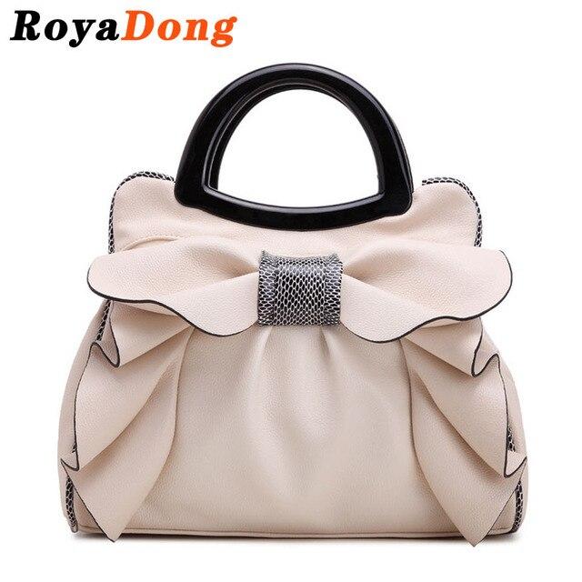 RoyaDong 2017 Brand Top-Handle Bags Women's Handbags Bow Flowers Luxury Women Bags Shoulder Bag Ladies Summer Hand Bag
