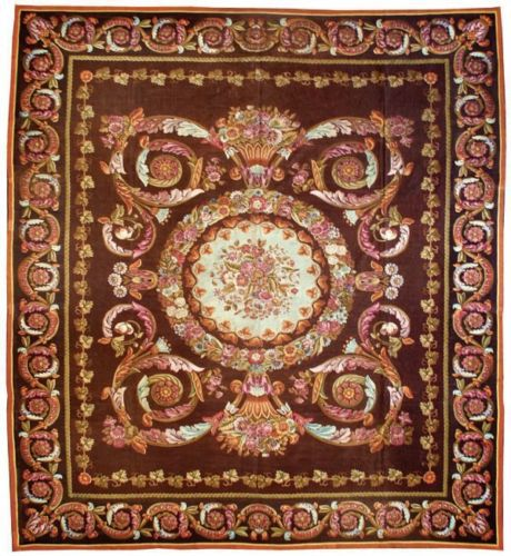 2014 Top Fashion Tapete Alfombras Details About 15 X 17 Oversize Antique Repro Thick Plush French Savonnerie Rug Made To Order