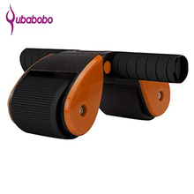 [QUBABOBO] Exercise Abdominal Muscle Women Firm Abs Power Roller Foldable AB Coaster Double Wheel TPR Material Home Use