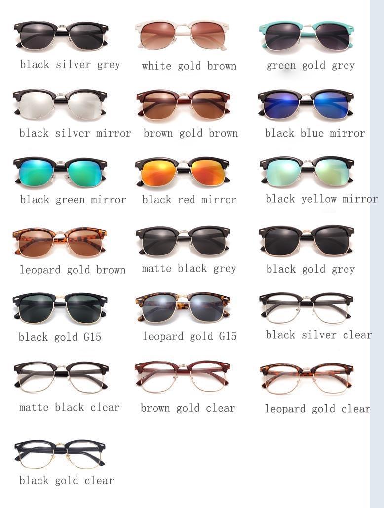 6fdc75c60 Generic Men UV400 Sunglasses Men Women Luxury Vintage Semi-Rimless ...