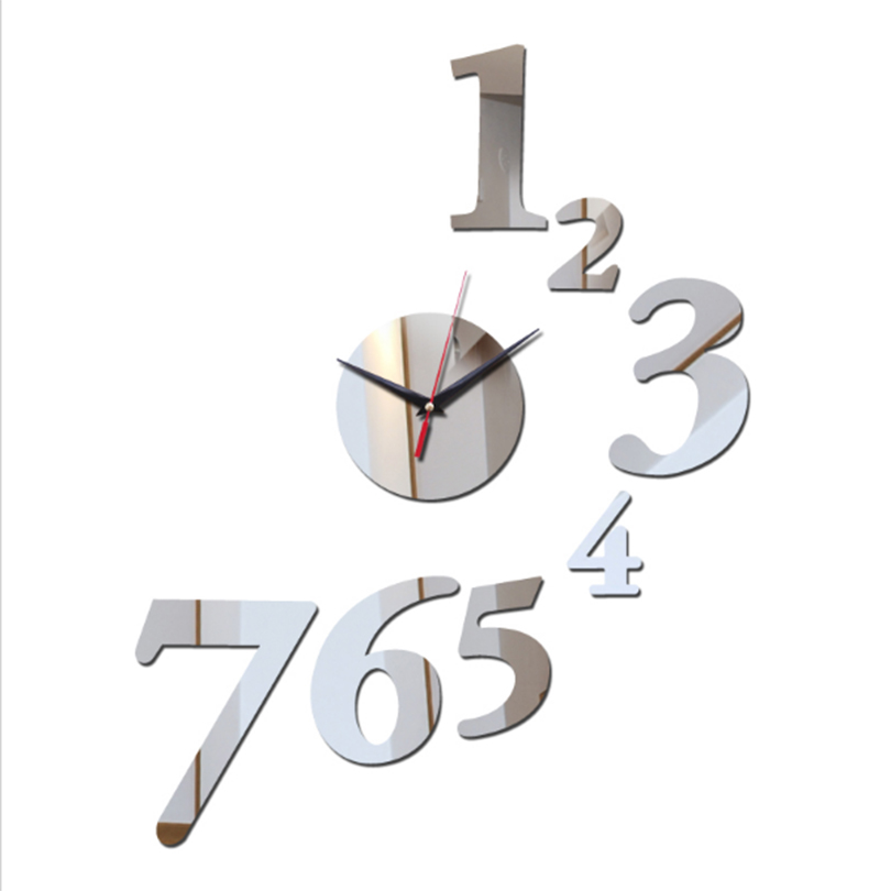 Promotions 2017 New Large Wall Clock Modern Design 3D DIY Wall watch ...