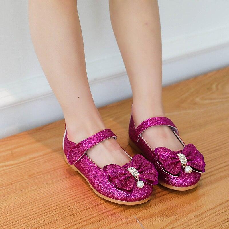 Flor niños niñas Gold Sequins Glitter Zapatos de vestir de cuero para niñas  danza de la boda casarse princesa nuevo en Zapatos de Cuero de Mamá y bebé  en ... 6ffedefb11bc
