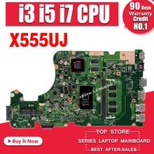 X555UJ REV: 2,0 материнская плата для ноутбука Asus A555U K555U V555U X555U X555UJ X555UF X555UQ с оперативной памятью 4 ГБ Оперативная память I3-6100 i5-6200 i7-6500 процессор