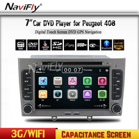 Free shipping car dvd player multimedia system radio for Peugeot 308 408 308SW with Car GPS navigation 1080P BT 3G audio video