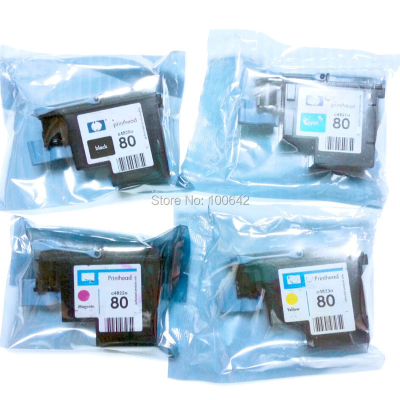 80 Printhead for HP80 Designjet 1000 1050c 1055cm Remanufactured C4820A C4821A C4822A C4823A printer head for HP 80 for hp designjet 1050 1055 1050ps printer chip decoder for hp 80 ink cartridge