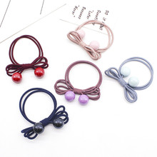 Girl Hair Rope  Scrunchie Bowknot Elastic Hair Bands For Women Colored beads Ties Ponytail Holder Hair Accessories ботинки betsy betsy be006agfomy6
