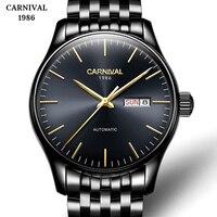 Men's Watch Sport Waterproof Automatic Mechanical Watch Stainless Steel Automatic Self-Wind Wrist Watches Horloges Mannen